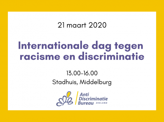 Banner Internationale dag tegen racisme en discriminatie